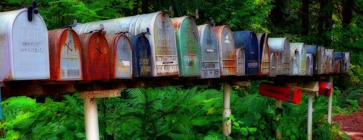 Mailboxes • Source: Pixabay by Werner22brigitte http://pixabay.com/en/mailbox-postbox-usa-traditional-55464/ • License: http://creativecommons.org/publicdomain/zero/1.0/deed.en