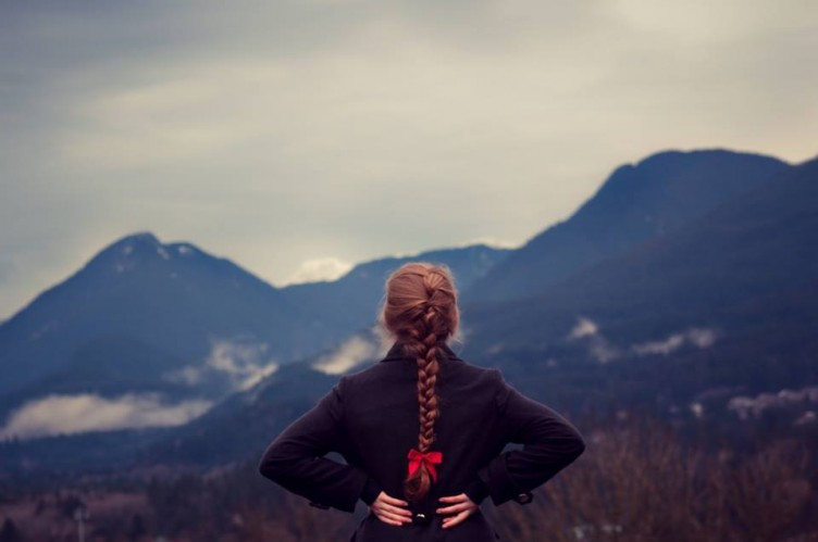 Girl and mountains-Unspash