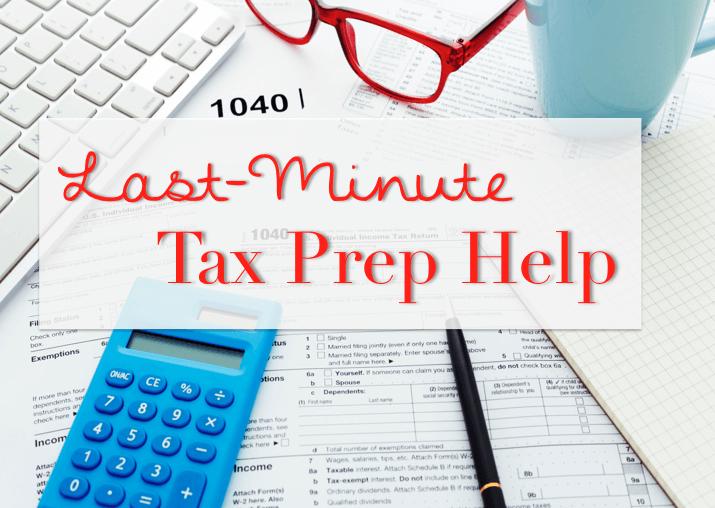 Last-minute tax filing