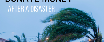 Donate Money after a Disaster