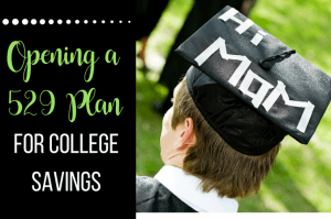 Opening a 529 plan