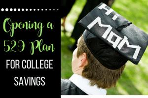 Opening a 529 plan